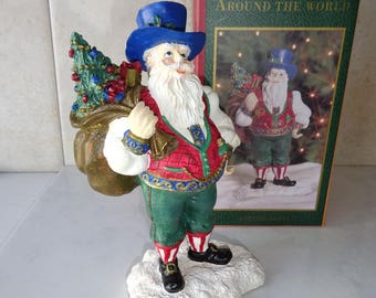 Vintage Santas From Around the World Austria Austrian Santa Figurine Hand Painted