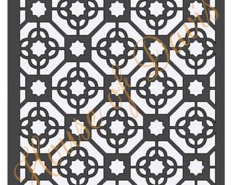 Moroccan Tile Stencil - 12x12