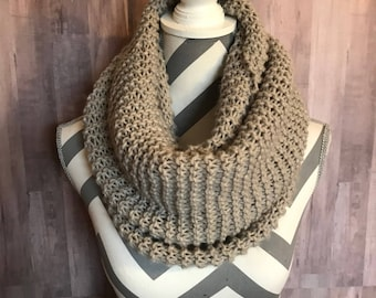 Light Gray Bulky Scarf