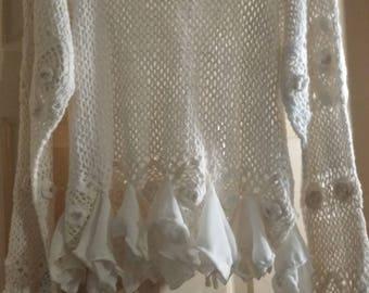 Upcycled crochet shirt