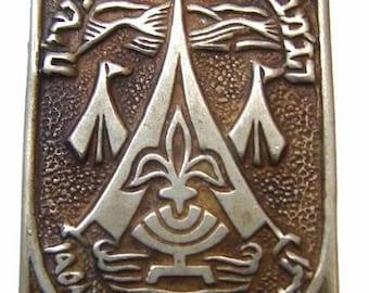 1958 ISRAELI SCOUTING JAMBOREE The Israeli National Scouts Tzofim youth Movement Pin