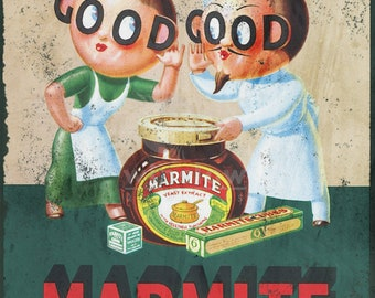 Marmite Retro advertising sign.