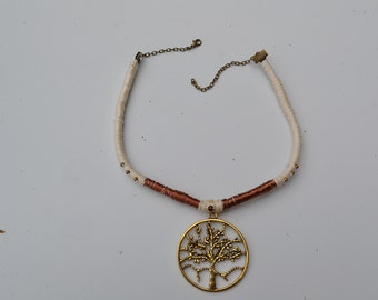 Gold plated tree of life necklace