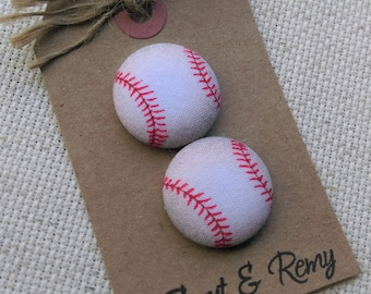 Baseball Needle Minder w/Monogram Option /  2 Piece Reversible Scout and Remy, Personalized, Initial, For Cross Stitch, Sewing, Embroidery