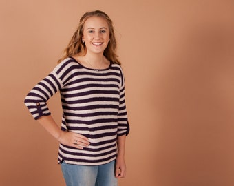 CROCHET sweater PATTERN - Boisfort crochet top pattern for women