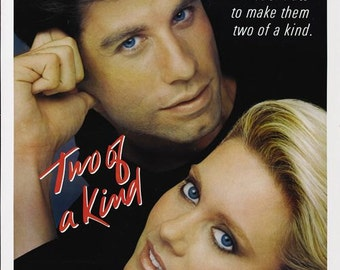 27 X 40 Vintage Movie Poster - 'Two Of A Kind' - John Travolta, Olivia Newton-John