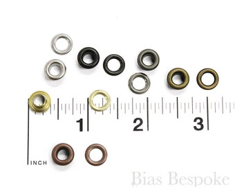 Set of 144 SHAY Size #00 Grommets (9.5mm), for Bevy Pliers