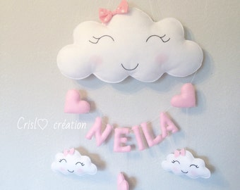First name and cloud Garland