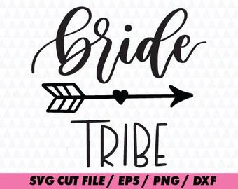 Bride svg, Bride Tribe clipart,Bride digital Calligraphy Cursive Lettering svg– svg eps png dxf - Fabric Cut Print Mug Shirt Decal Active