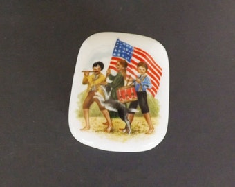 Vintage Music Box, Yankee Doodle, Royal Yarmouth, Hand Painted Fine Porcelain, Patriotic, Made in Japan, American Flag, Collectible