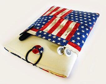 iPad Air Case, Sony Xperia case, iPad Air Sleeve, iPad Air 2 case, Kindle Fire 8.9, iPad Pro Case, American Flag