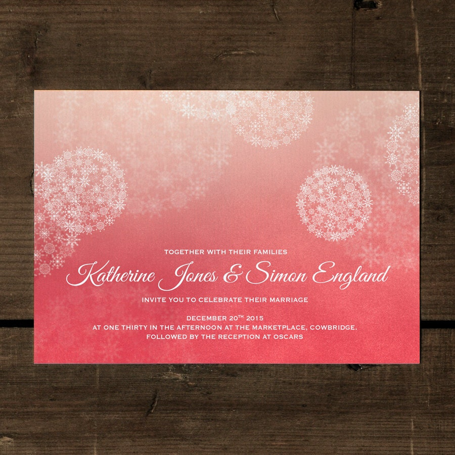 Winter Wonderland Snowing Wedding Invitation Set on Luxury