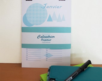 perpetual calendar with scandinavian design, trend, Birthday calendar