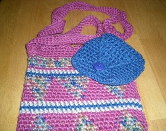 Mauve, blue, multi Bag