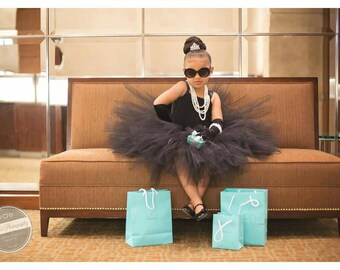 Black Tutu Dress, Black Toddler Formal Dress,  Black Flower Girl Dress
