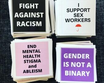 Social justice sticker pack / Vinyl sticker / Weatherproof sticker