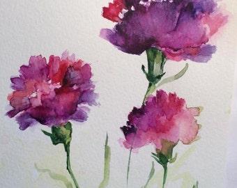 greeting card, watercolor, handmade