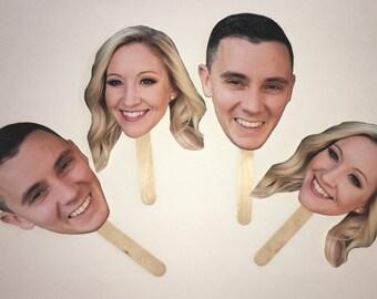 Bridal Shower Photo Prop - Picture on Stick - Fun Photo Prop - Party Prop - Custom Photo Booth Prop - Funny Big Head