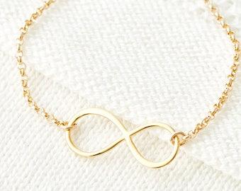 Bracelet d'amitié, or infini, Minimal, Bracelet, Bracelets, en argent, en or Rose, cadeau pour elle d'empilage de superposition