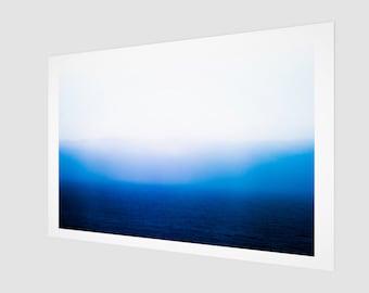 Mediterranean Sea Smoke Fine Art Print, 1:50 Limited Edition / home decor / decoration / photo / photography / black and white / stripes