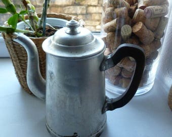Old coffee pot / teapot in aluminum