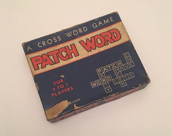 "Rare 1930's All-Fair Games PATCH WORD ""A Cross Word Game"" - E. E. Fairchild, Rochester, New York"