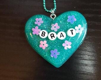 Resin Brat Fairy Kei Pastel Goth Ball Chain Necklace