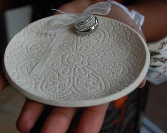 Ceramic Ring Dish,Weddings, Ring Bearer Ring Pillows ,Porcelain Wedding Ring Dish,wedding ring holder, Handmade, Ready to Ship