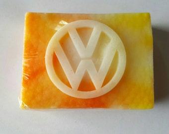 Vw, Volkswagen soap,Tye dye soap, Shea Butter Soap,Artisan Soap