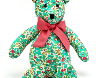 Handmade Floral Teddy Bear Stuffed Toy