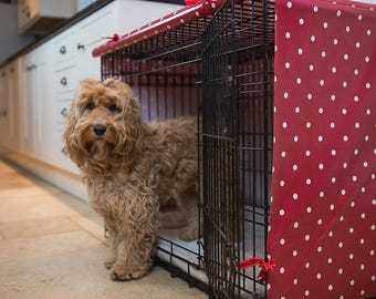 Large Dog Crate Cover – Dog Crate Cover – Pet Crate Cover – Kennel Cover – Oilcloth Cover – Dog Crate – Dog Bed – Dog Accessories -Dog Gift