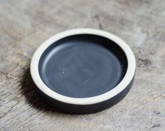 Black Planter Saucer, Drip saucer, Ceramic Planter, Succulent Planter, Garden, Pottery Planter, Drip Tray, Pottery saucer, Ceramic Saucer