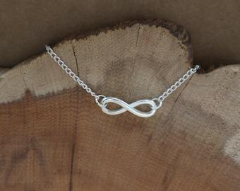 Infinty Modern Simple Silver Friendship Charm Bracelet