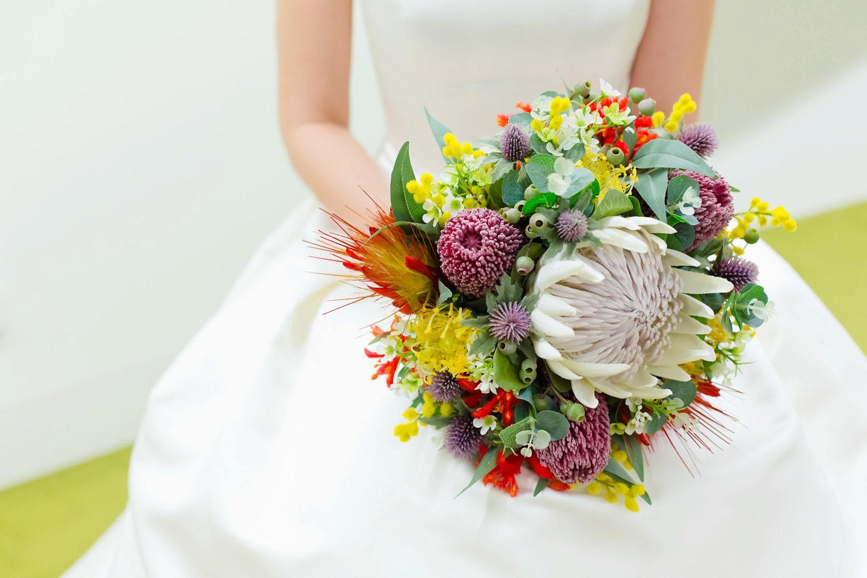 Native Rustic Wedding Bouquet Australian South African