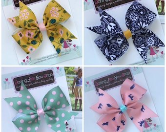 """Small Hairbows to match Matilda Jane Joanna Gaines Release - small 4"""" bows"""