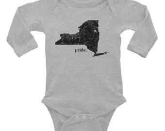 Infant Pride Series | NY Long Sleeve Bodysuit