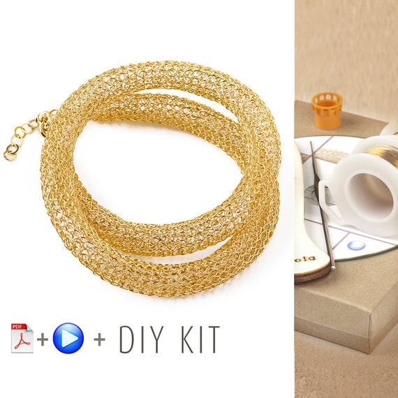Häkeln Sie Muster DIY Bausatz Draht häkeln Halskette Muster