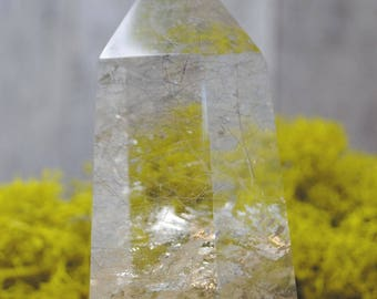 Rutilated Smoky Quartz Crystal Tower Point -  1248.09