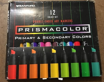 Sanford Prismacolor 12 Color Set Double-Ended Markers Primary & Secondary Colors