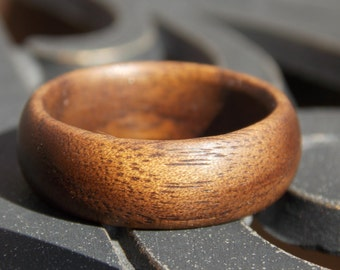 Natural American Black Walnut wood ring Made to Order Custom Size and Width any size Men Walnut wood ring Woman Walnut wood ring Custom ring