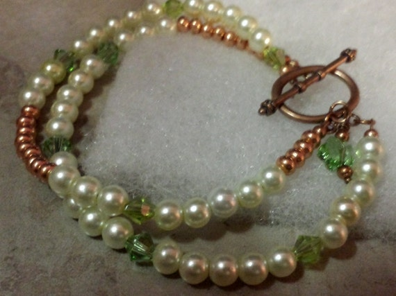 Pearl and Copper Bracelet