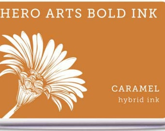 Hero Arts Caramel Hybrid Ink Af332  dye and pigment ink, stamping supplies, a2z scrapbooking, paper crafting