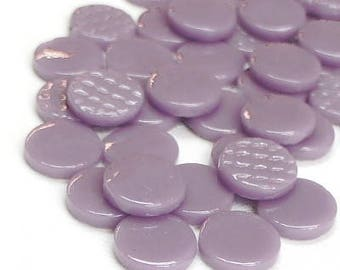 20mm Lavender Purple FLAT Round Recycled Glass Mosaic Tiles//Mosaic//Mosaic Supplies//Crafts