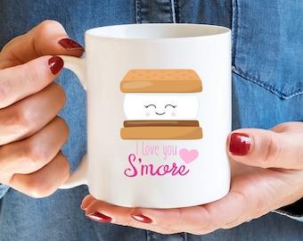 S'more, Smore, S'more Gift, Funny Mug, I Love You, Camping Mug, Anniversary Gift, Anniversary, Pun, Valentine's Day Mug, I Love You S'more
