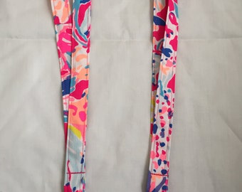 Lanyard Made With Lilly Pulitzer Pink Sunken Treasure fabric