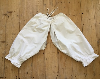 Antique 1900 French White Cotton Bloomers S