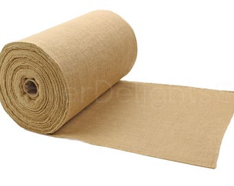 "50 Yards - 14"" Premium Burlap Roll - Finished Edges - Eco-Friendly Natural Jute Burlap Fabric - For 14 Inch Table Runners & Rustic Decor"