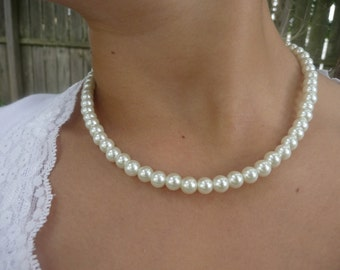 Girls Pearl Necklace Flower Girl Necklace -Perfect for all Special Occasions