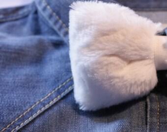 FUN - Fur (fake) white bow