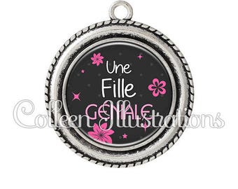 Pendant cabochons 25mm a great girl - 6 series